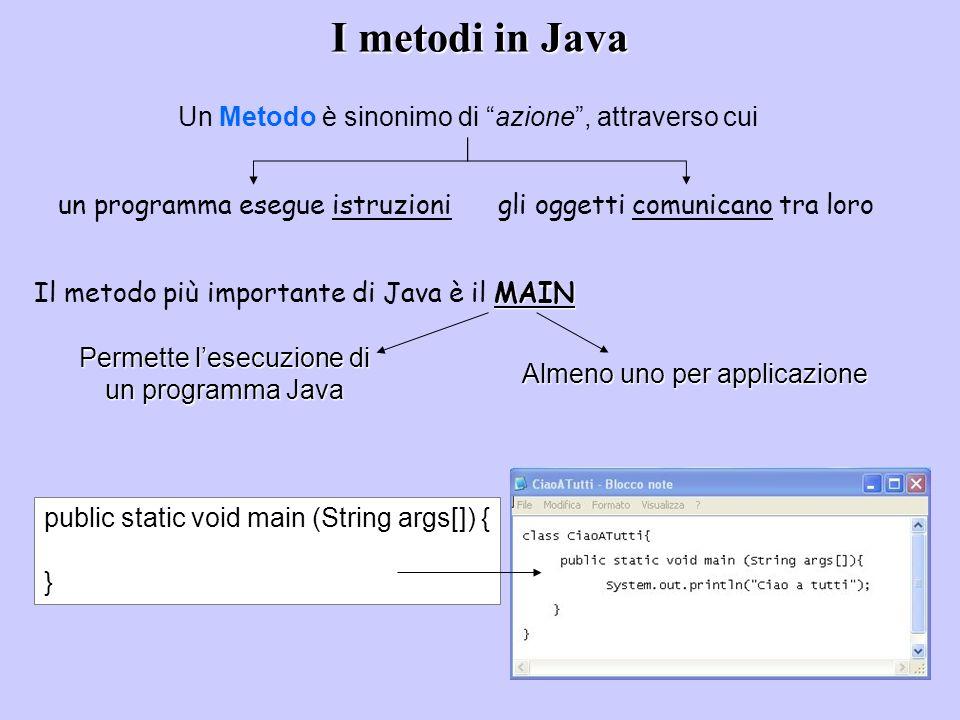 Permette l'esecuzione di un programma Java
