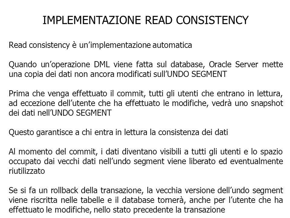 IMPLEMENTAZIONE READ CONSISTENCY