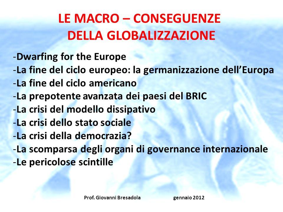 DELLA GLOBALIZZAZIONE