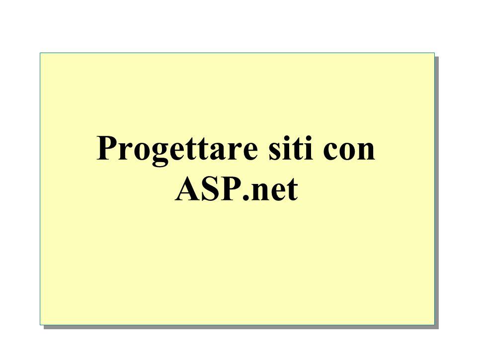 Progettare siti con ASP.net