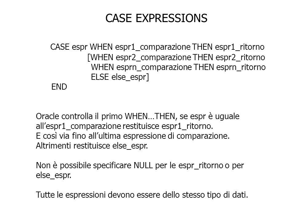 CASE espr WHEN espr1_comparazione THEN espr1_ritorno