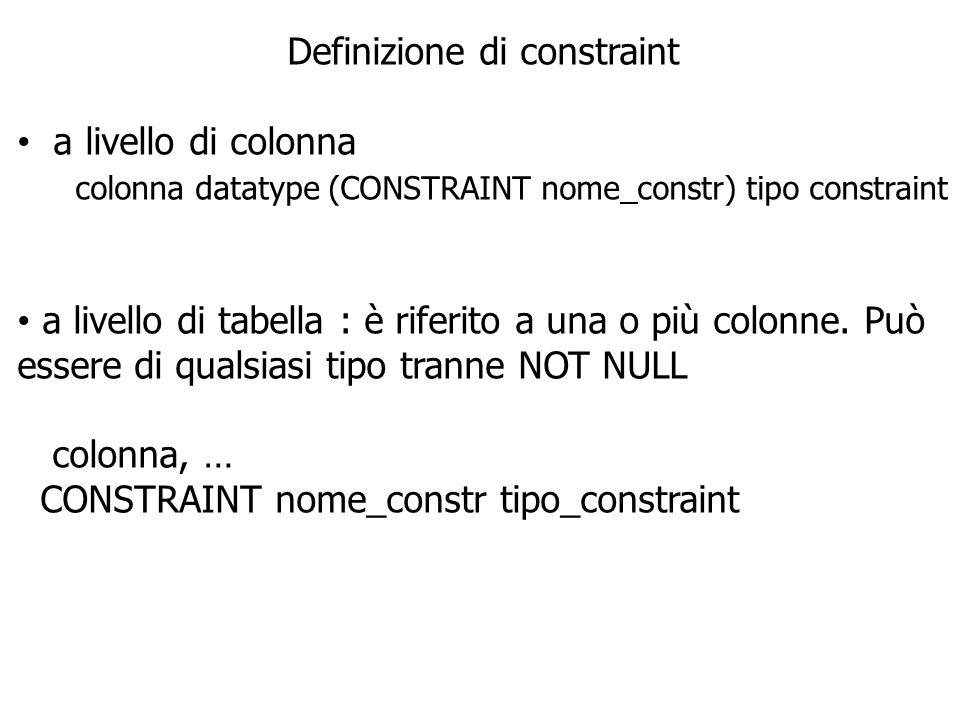 Definizione di constraint