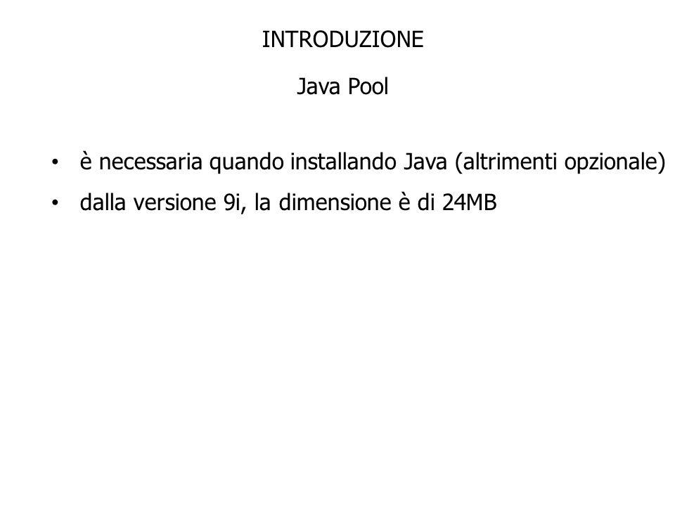 INTRODUZIONE Java Pool.