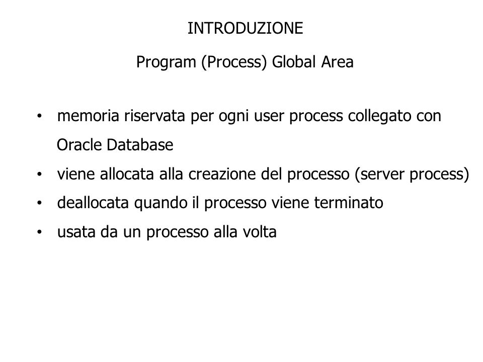Program (Process) Global Area