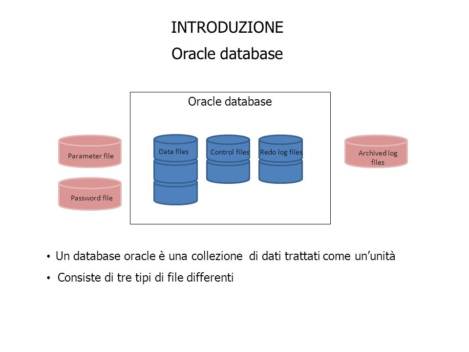 INTRODUZIONE Oracle database Oracle database