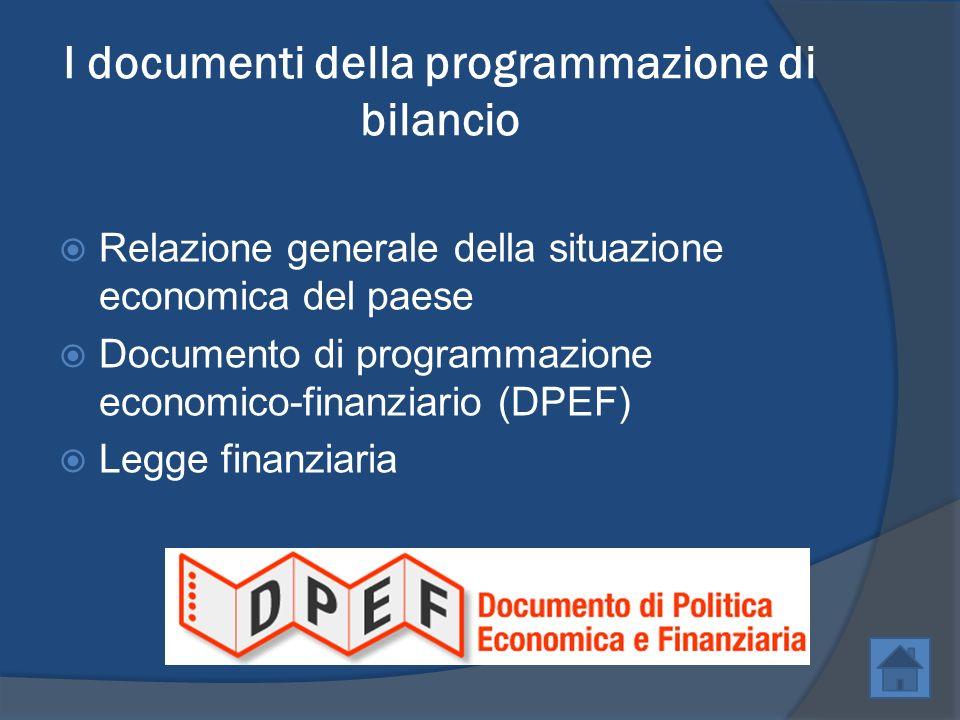 I documenti della programmazione di bilancio
