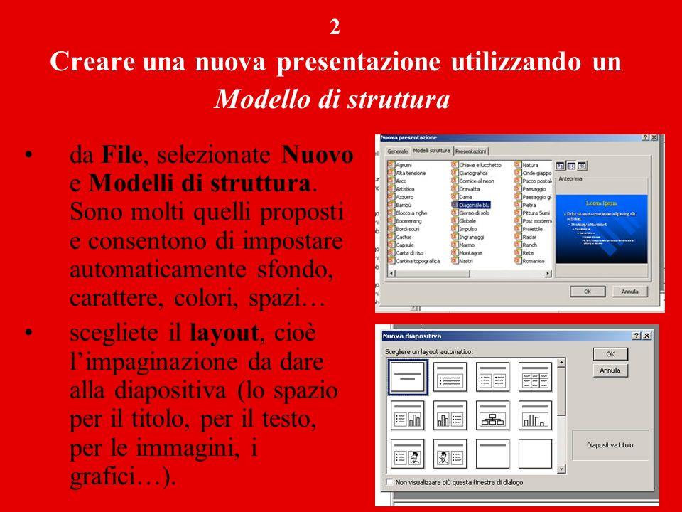 Creare una nuova presentazione utilizzando un