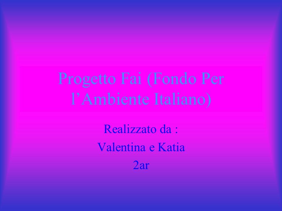 Progetto Fai (Fondo Per l'Ambiente Italiano)