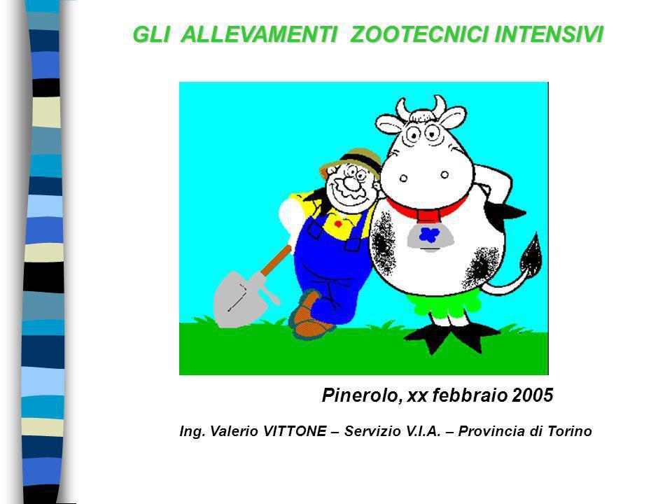 GLI ALLEVAMENTI ZOOTECNICI INTENSIVI Pinerolo, xx febbraio 2005