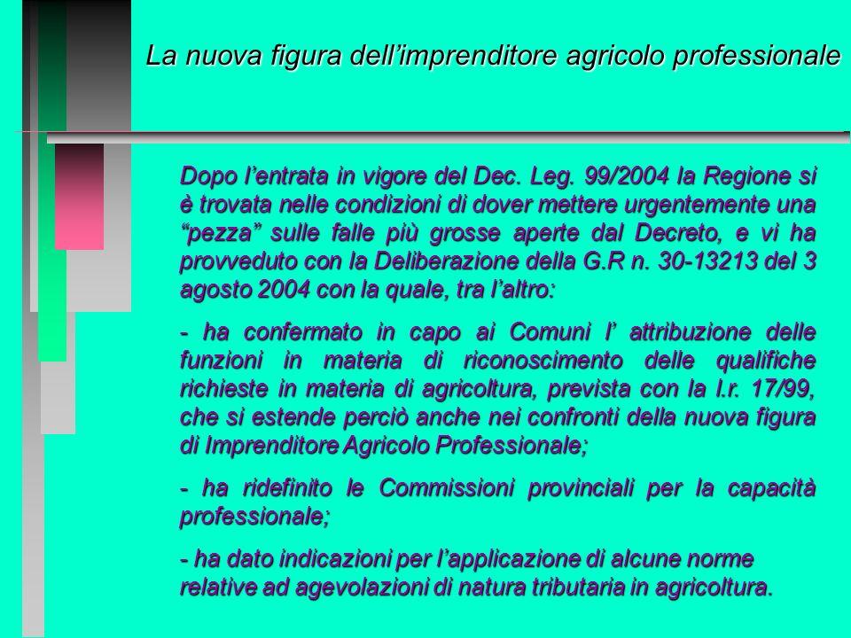 La nuova figura dell'imprenditore agricolo professionale