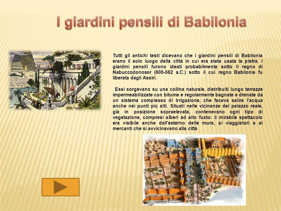 I giardini pensili di Babilonia