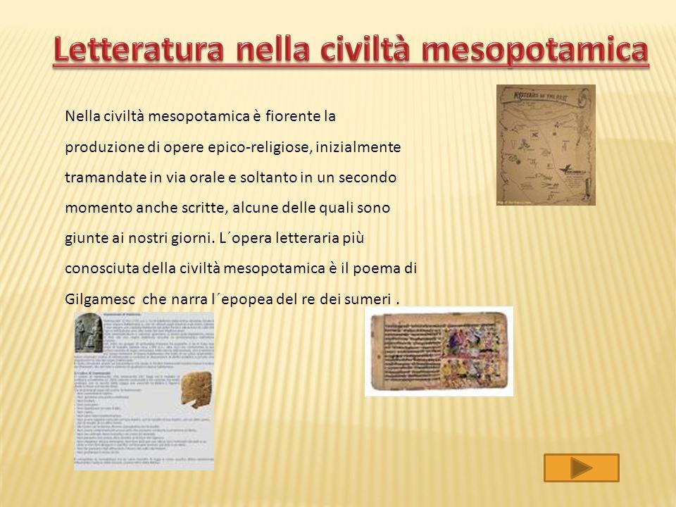 Letteratura nella civiltà mesopotamica