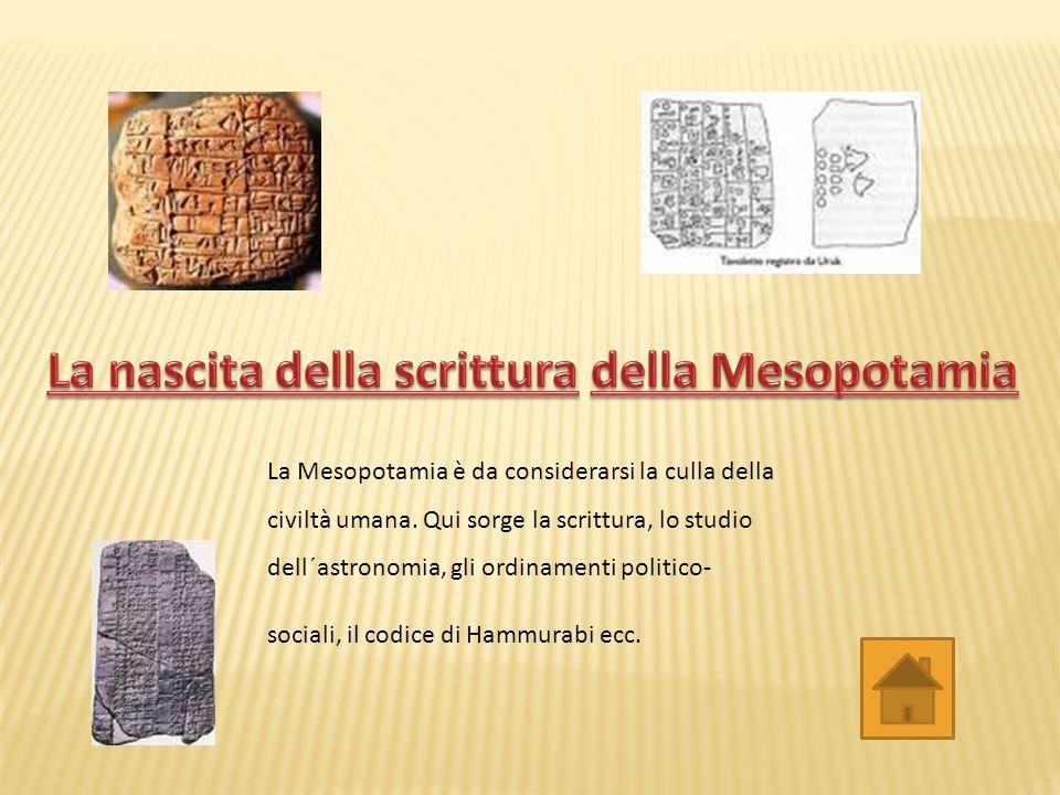 La nascita della scrittura della Mesopotamia