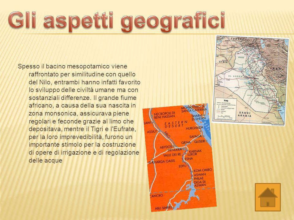 Gli aspetti geografici