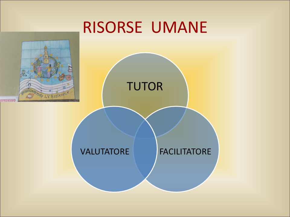 RISORSE UMANE TUTOR FACILITATORE VALUTATORE