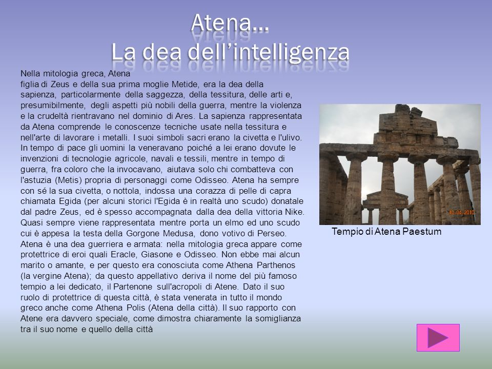 La dea dell'intelligenza