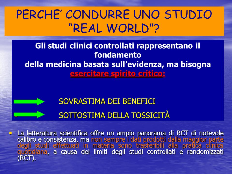 PERCHE' CONDURRE UNO STUDIO REAL WORLD
