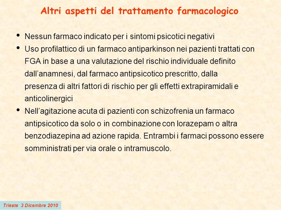 Altri aspetti del trattamento farmacologico