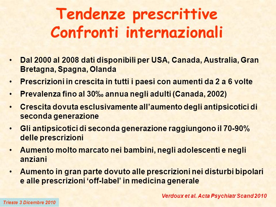 Tendenze prescrittive Confronti internazionali