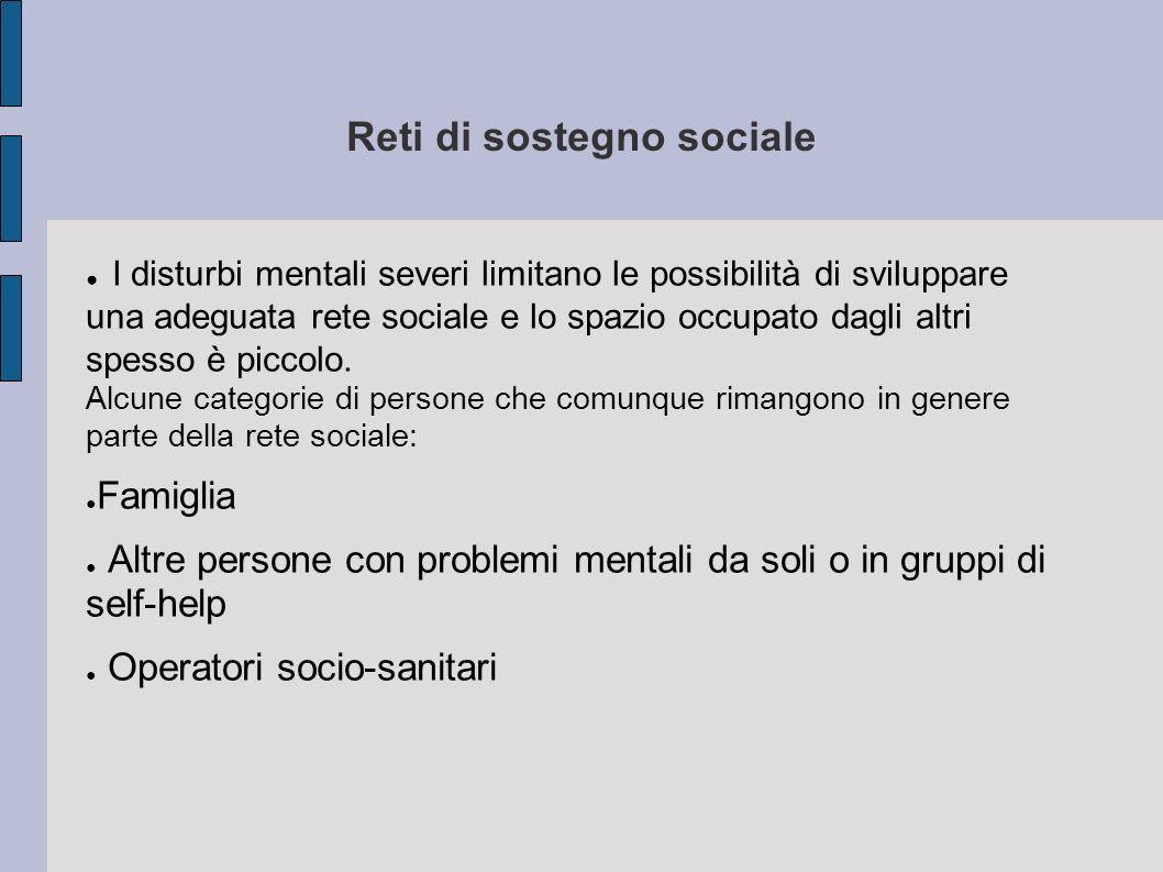 Reti di sostegno sociale