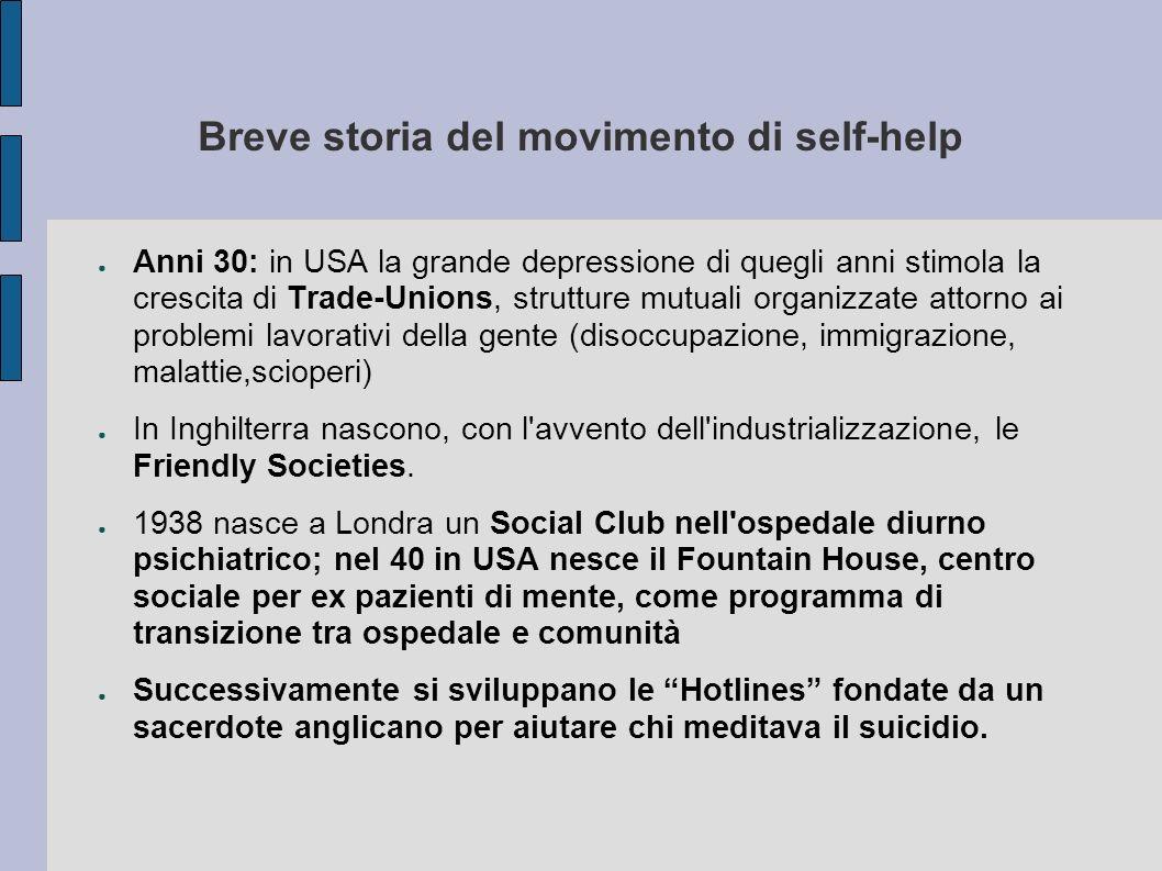 Breve storia del movimento di self-help