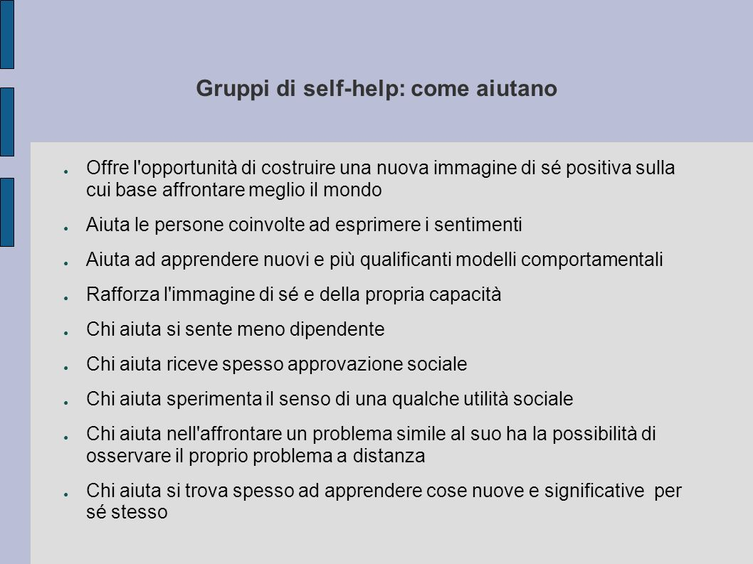 Gruppi di self-help: come aiutano