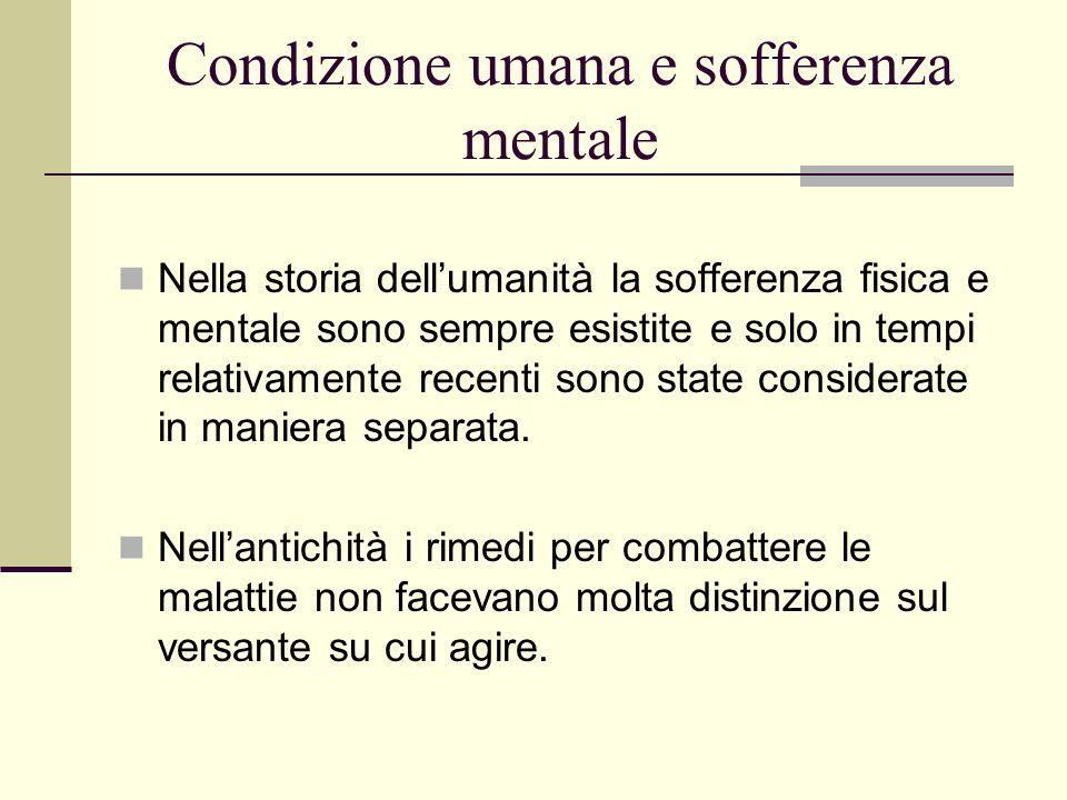Condizione umana e sofferenza mentale