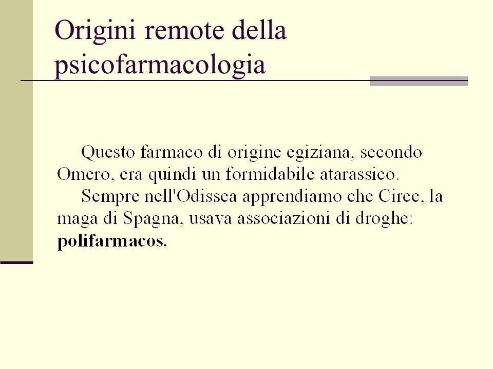 Origini remote della psicofarmacologia