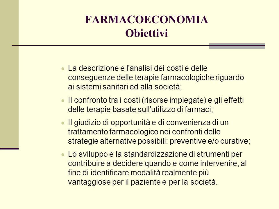 FARMACOECONOMIA Obiettivi