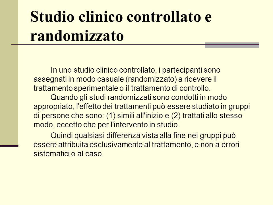 Studio clinico controllato e randomizzato