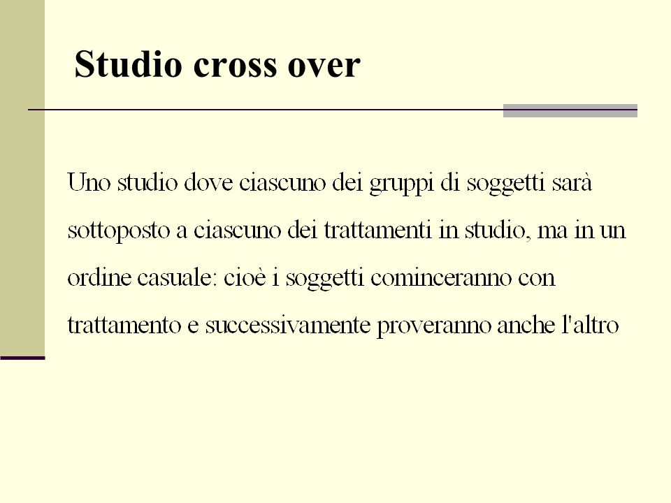 Studio cross over
