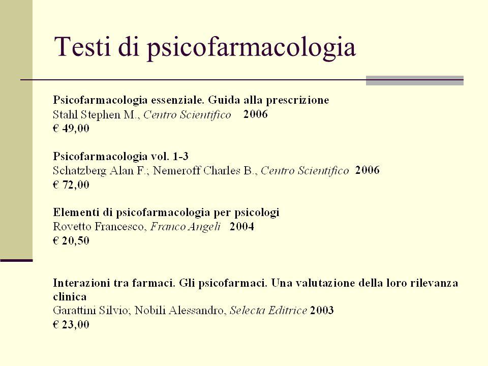 Testi di psicofarmacologia