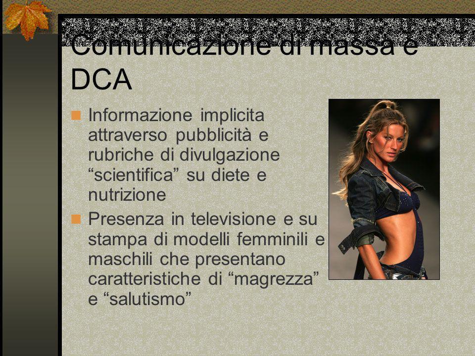 Comunicazione di massa e DCA