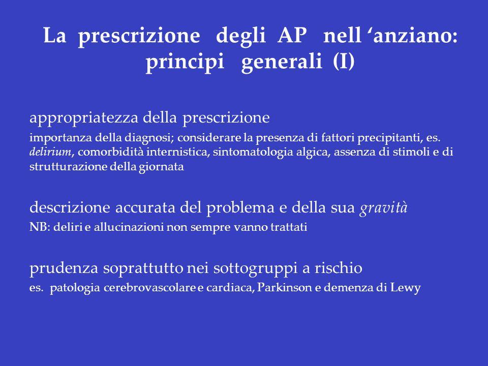 La prescrizione degli AP nell 'anziano: principi generali (I)