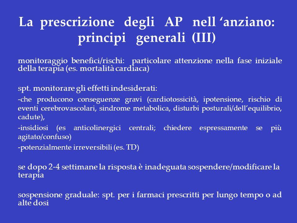 La prescrizione degli AP nell 'anziano: principi generali (III)