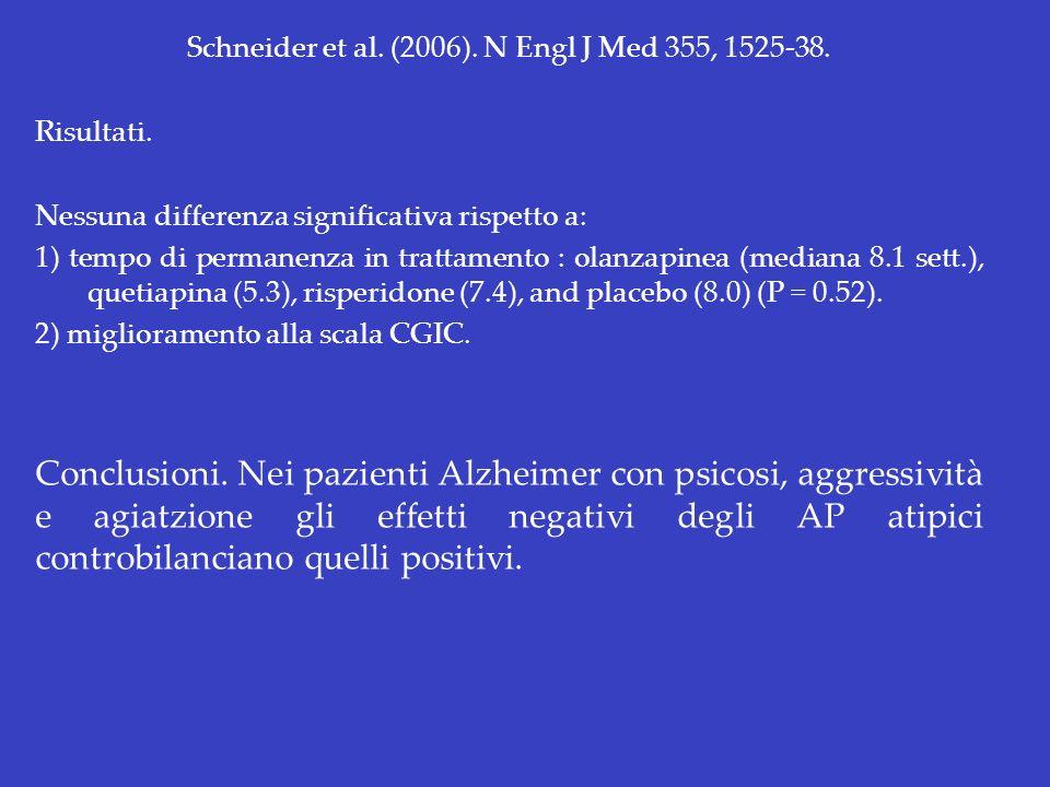 Schneider et al. (2006). N Engl J Med 355, 1525-38.