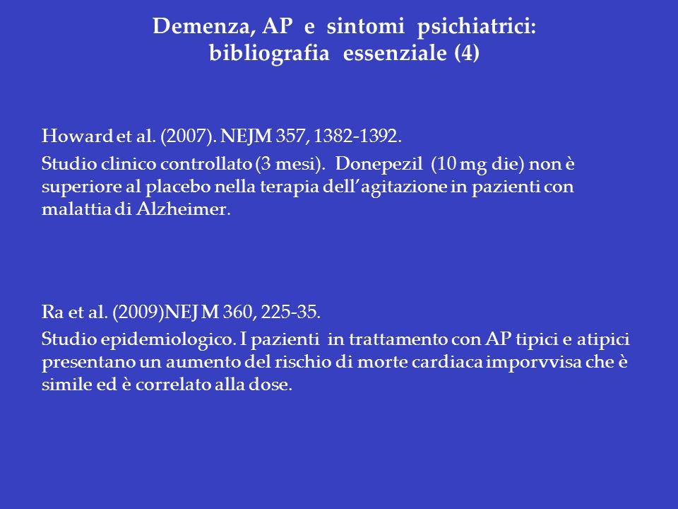 Demenza, AP e sintomi psichiatrici: bibliografia essenziale (4)