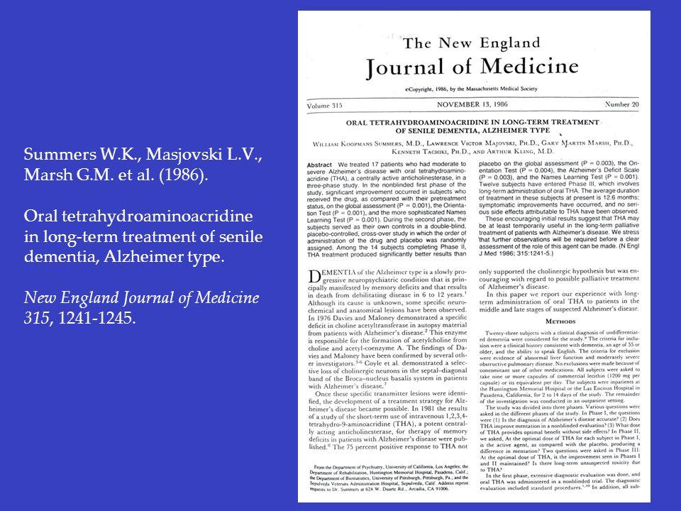 Summers W. K. , Masjovski L. V. , Marsh G. M. et al. (1986)