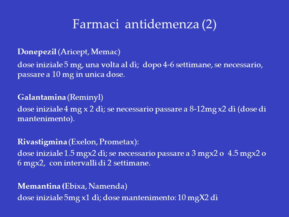 Farmaci antidemenza (2)