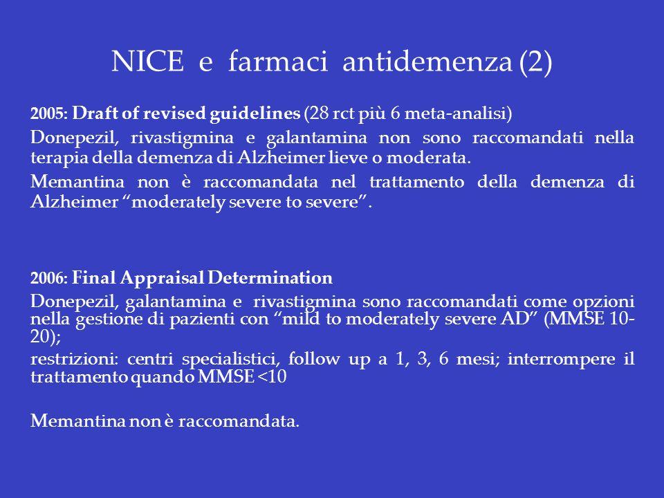 NICE e farmaci antidemenza (2)
