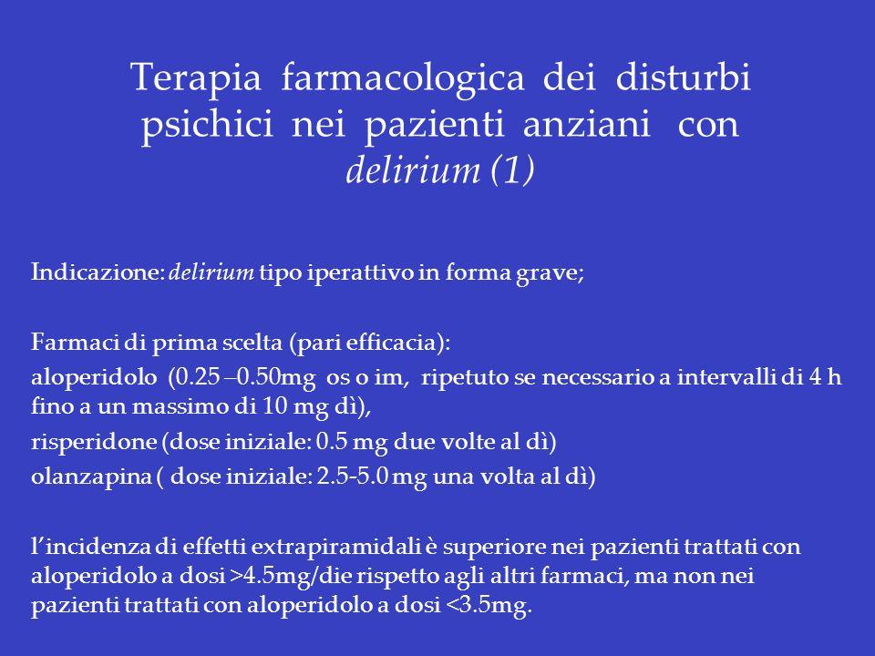 Terapia farmacologica dei disturbi psichici nei pazienti anziani con delirium (1)