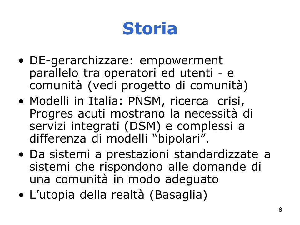 Storia DE-gerarchizzare: empowerment parallelo tra operatori ed utenti - e comunità (vedi progetto di comunità)