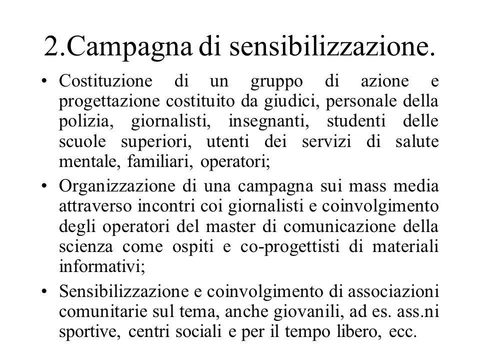 2.Campagna di sensibilizzazione.