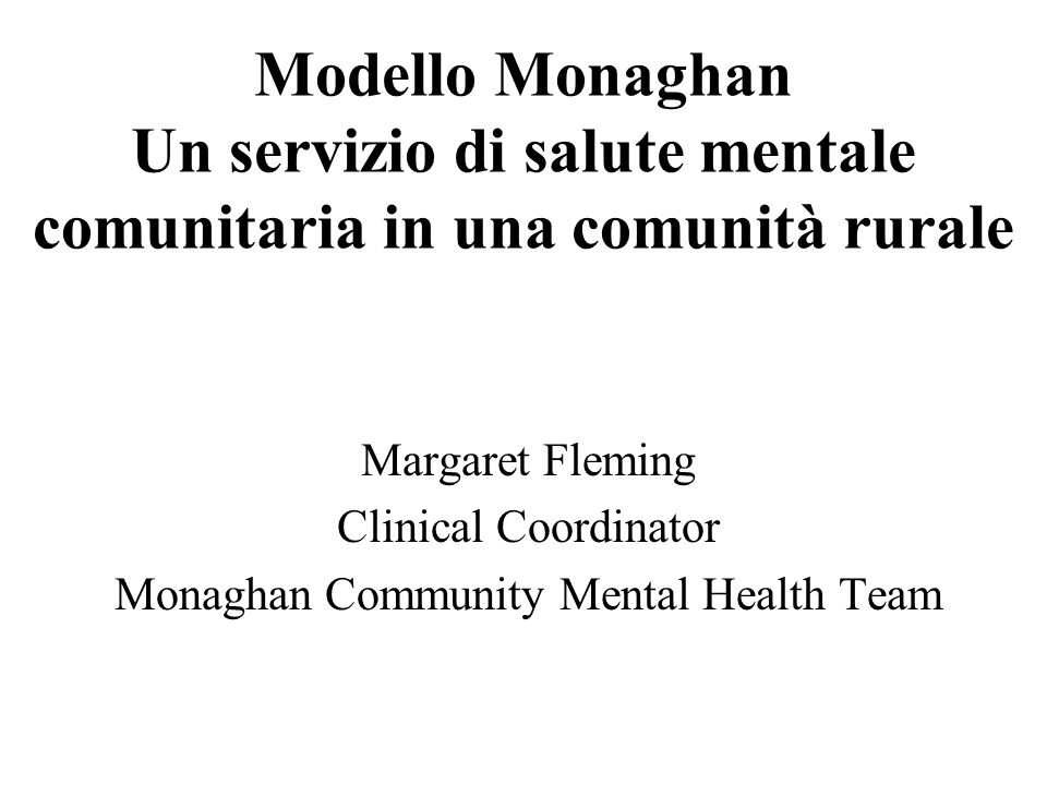 Monaghan Community Mental Health Team