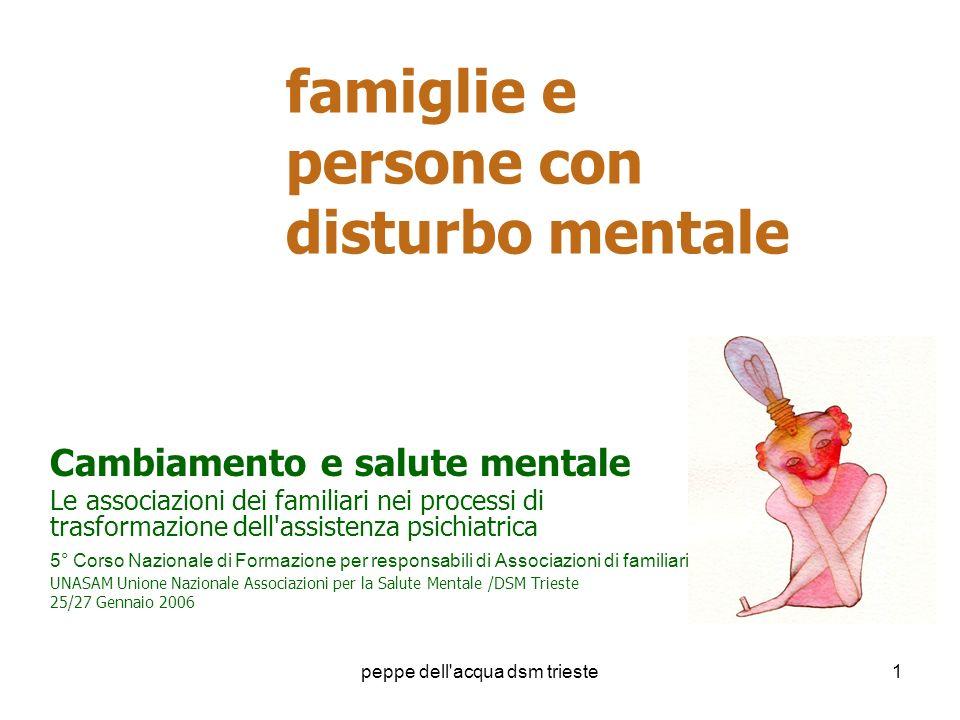 famiglie e persone con disturbo mentale