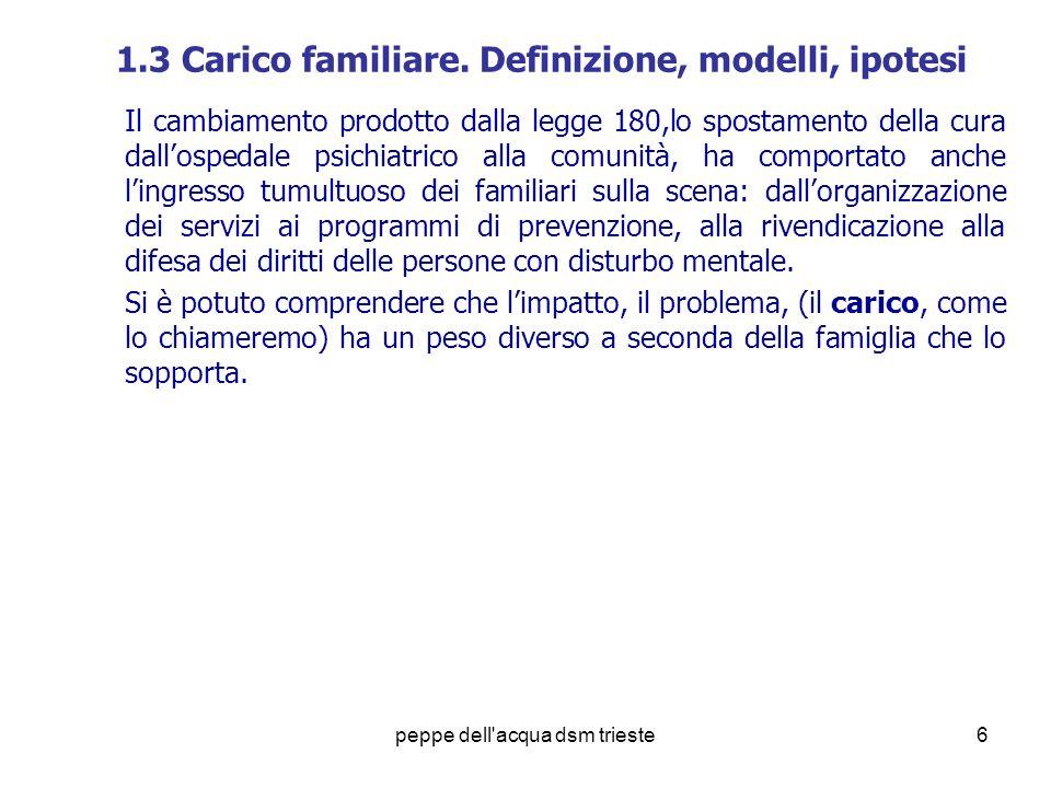 1.3 Carico familiare. Definizione, modelli, ipotesi