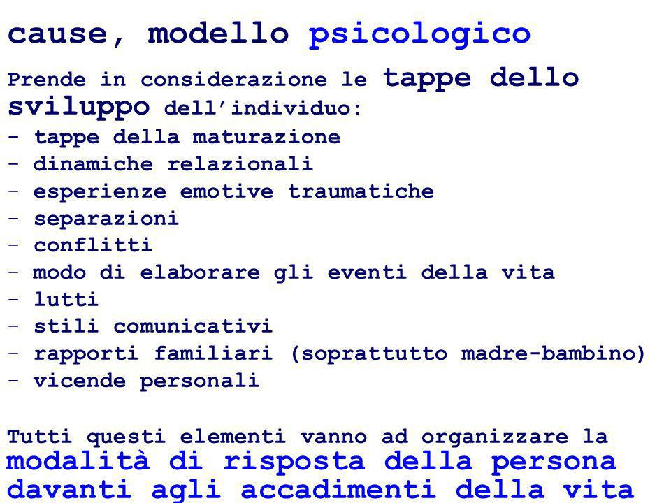 cause, modello psicologico
