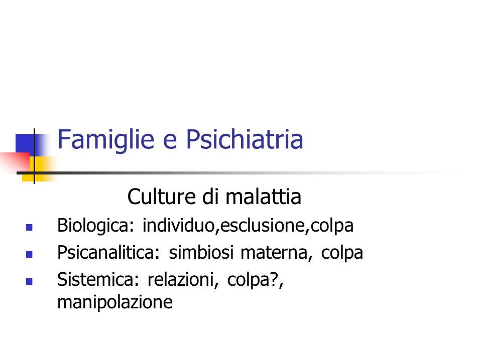Famiglie e Psichiatria