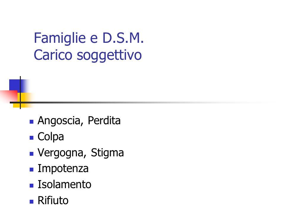 Famiglie e D.S.M. Carico soggettivo