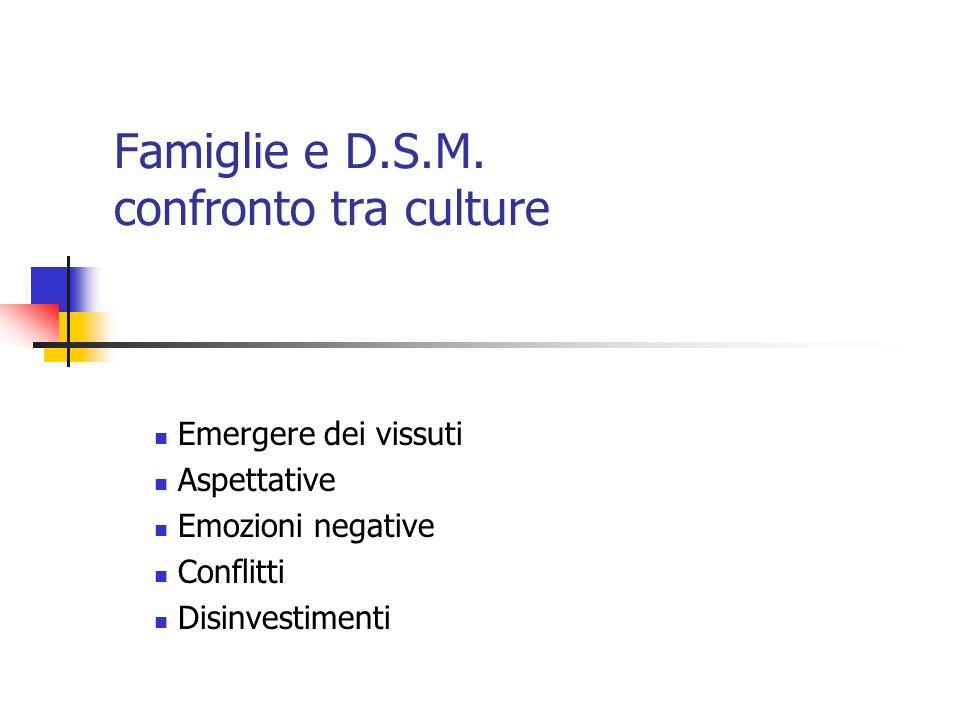 Famiglie e D.S.M. confronto tra culture